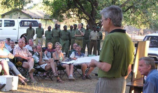 Briefing at Nyamepi Camp